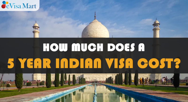 five year indian visa cost