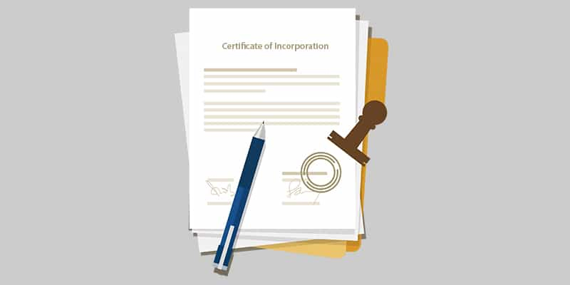 why provide the incorporation certificate