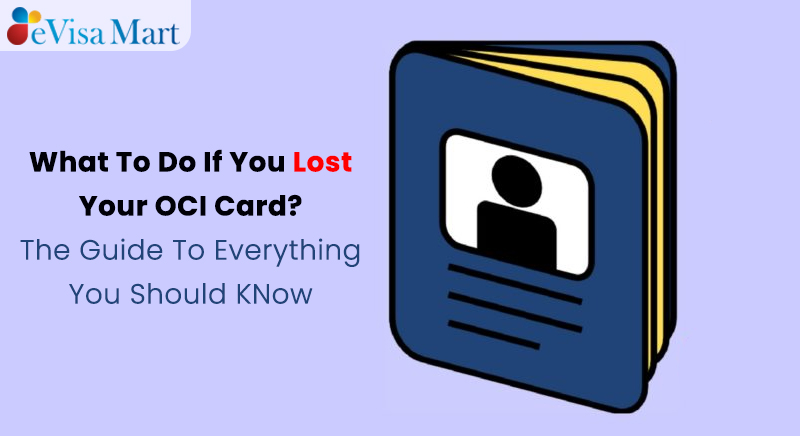 what to do if i lost my OCI card